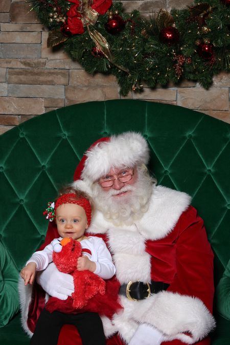Reagan with Santa