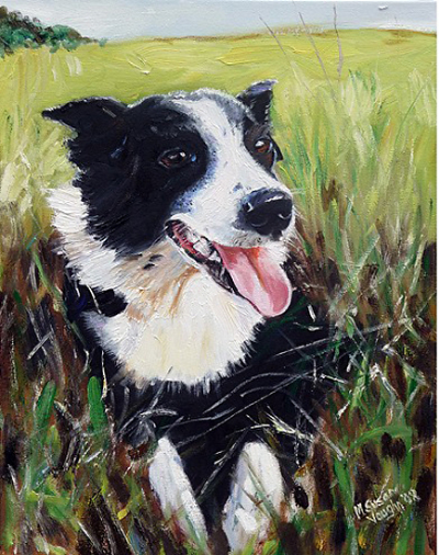 Nell-painting-of-a-dearly-loved-border-collie18x14Oil