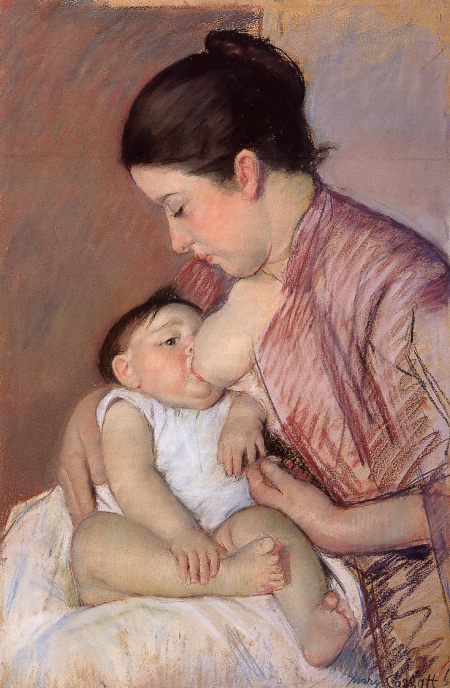 Motherhood-1890-Mary-Cassatt-Oil-Painting